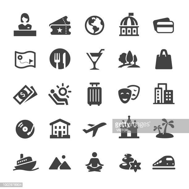 travel and leisure icons - smart series - leisure activity stock illustrations