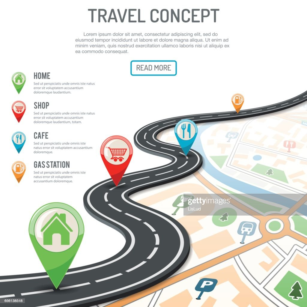 Travel and Navigation Concept