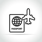 travel and plane icon concept