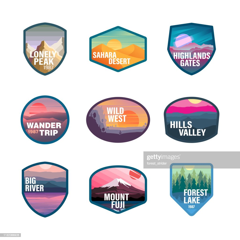 Travel and Tourism Logos : stock illustration