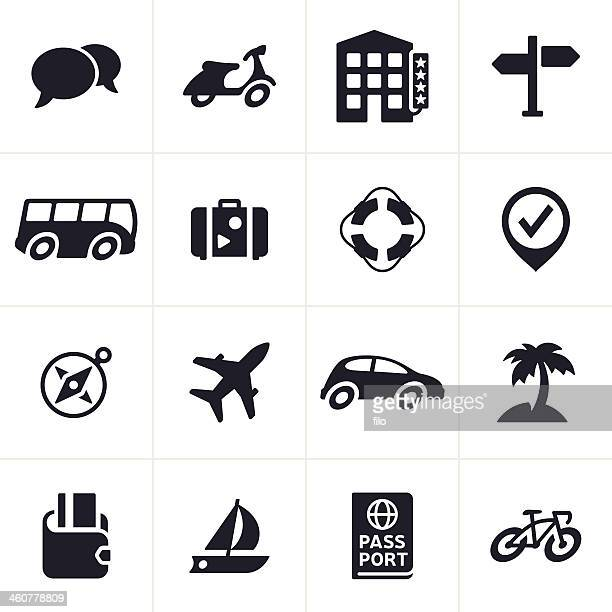travel and transportation icons - moped stock illustrations, clip art, cartoons, & icons