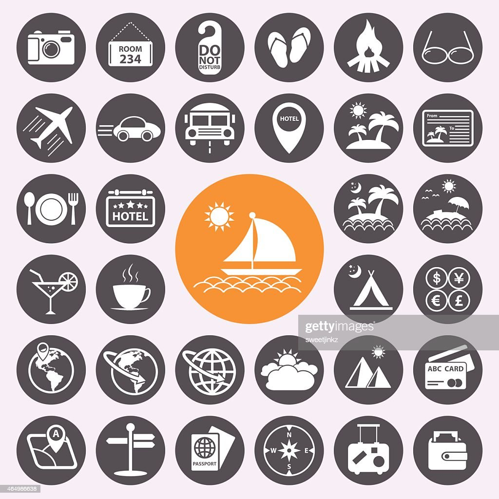 Travel and vacation icons set.vector/eps10.