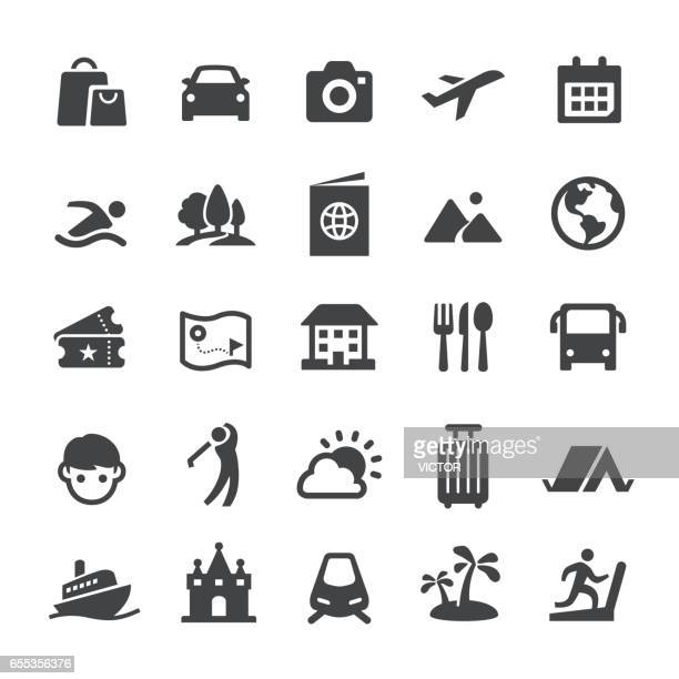 travel and vacation icons - smart series - tourism stock illustrations