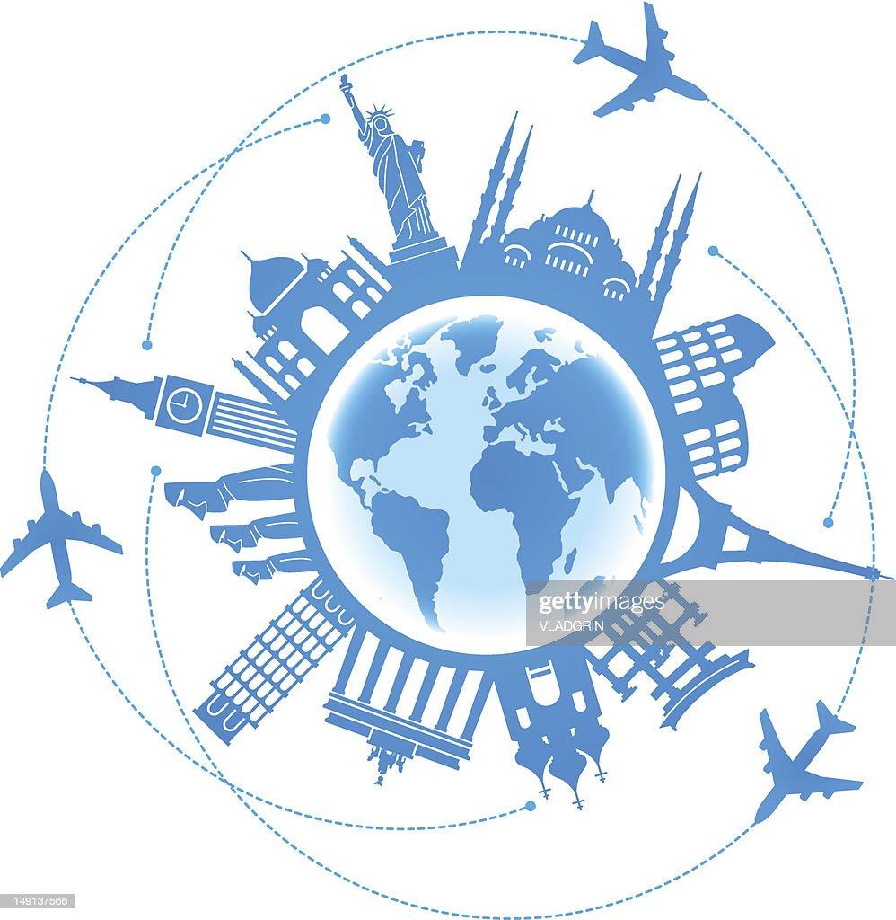 Travel background air