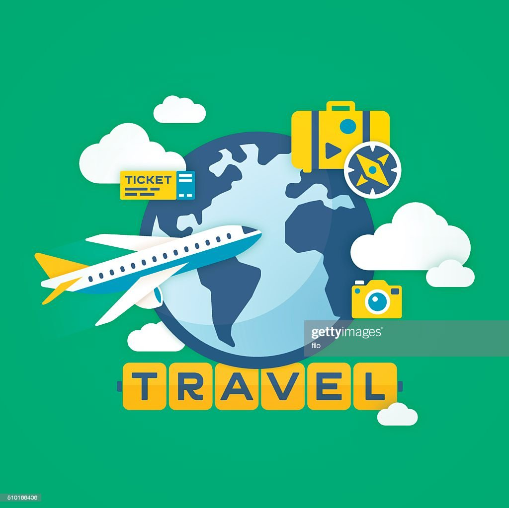 Travel Background : Stock Illustration