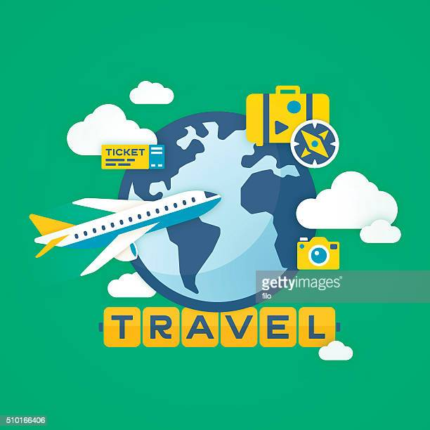 travel background - business travel stock illustrations, clip art, cartoons, & icons