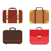 Travel bag vector set.