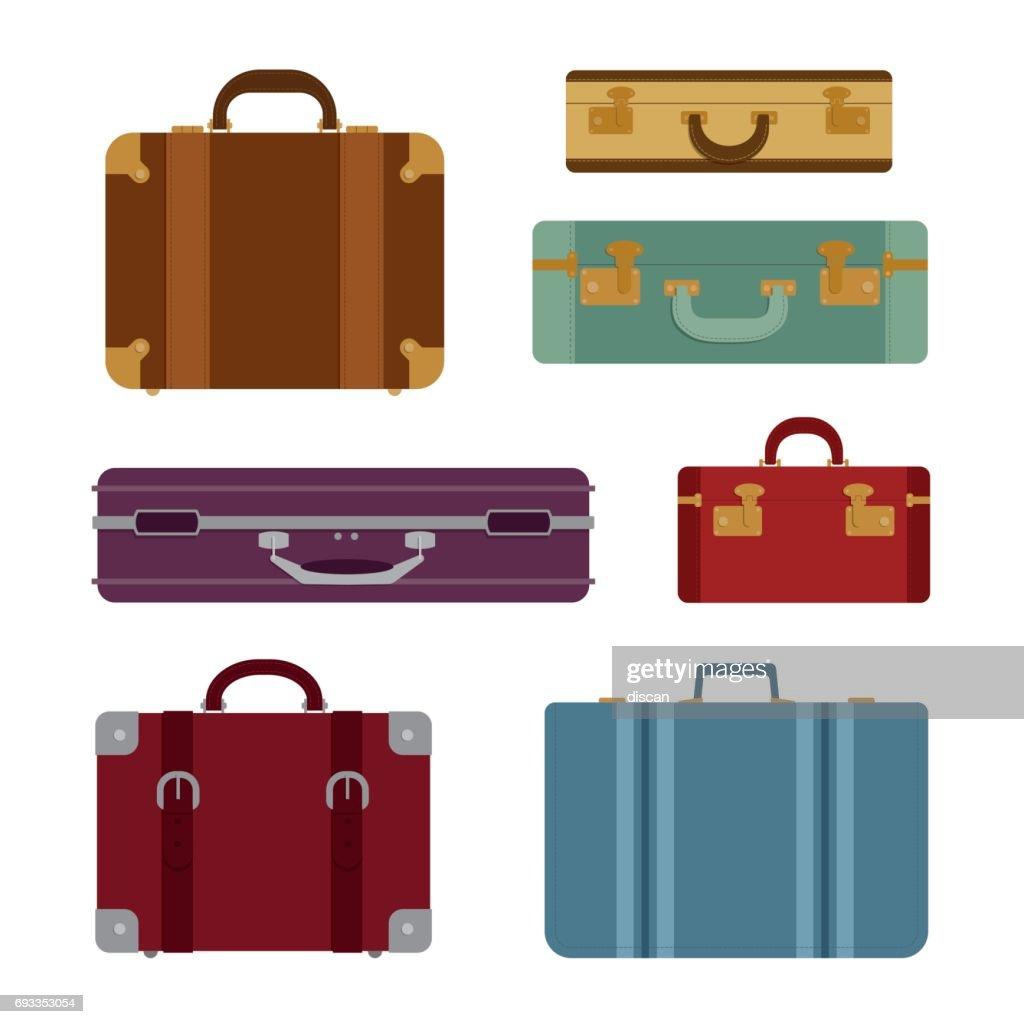 Travel bags vector set : stock illustration