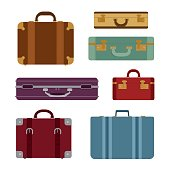 Travel bags vector set