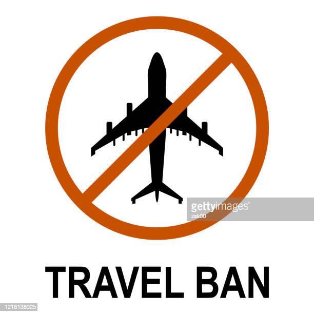 travel ban icon - biohazardous substance stock illustrations