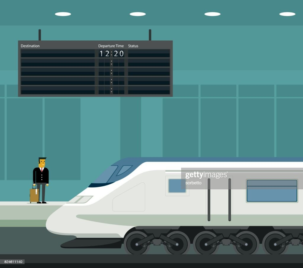 Travel by train : stock illustration