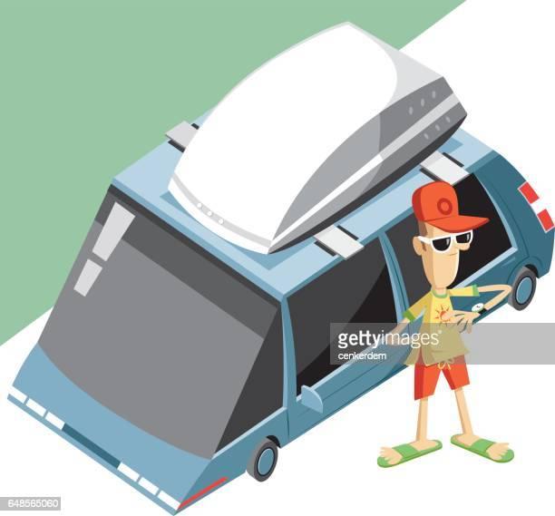 illustrations, cliparts, dessins animés et icônes de voyage voiture et conducteur impatient - impatient