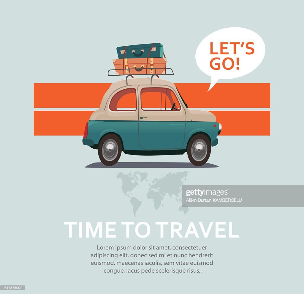 Travel car : stock illustration