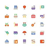 Travel Colored Vector Icons 7