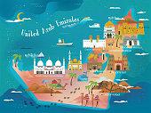 UAE travel concept map