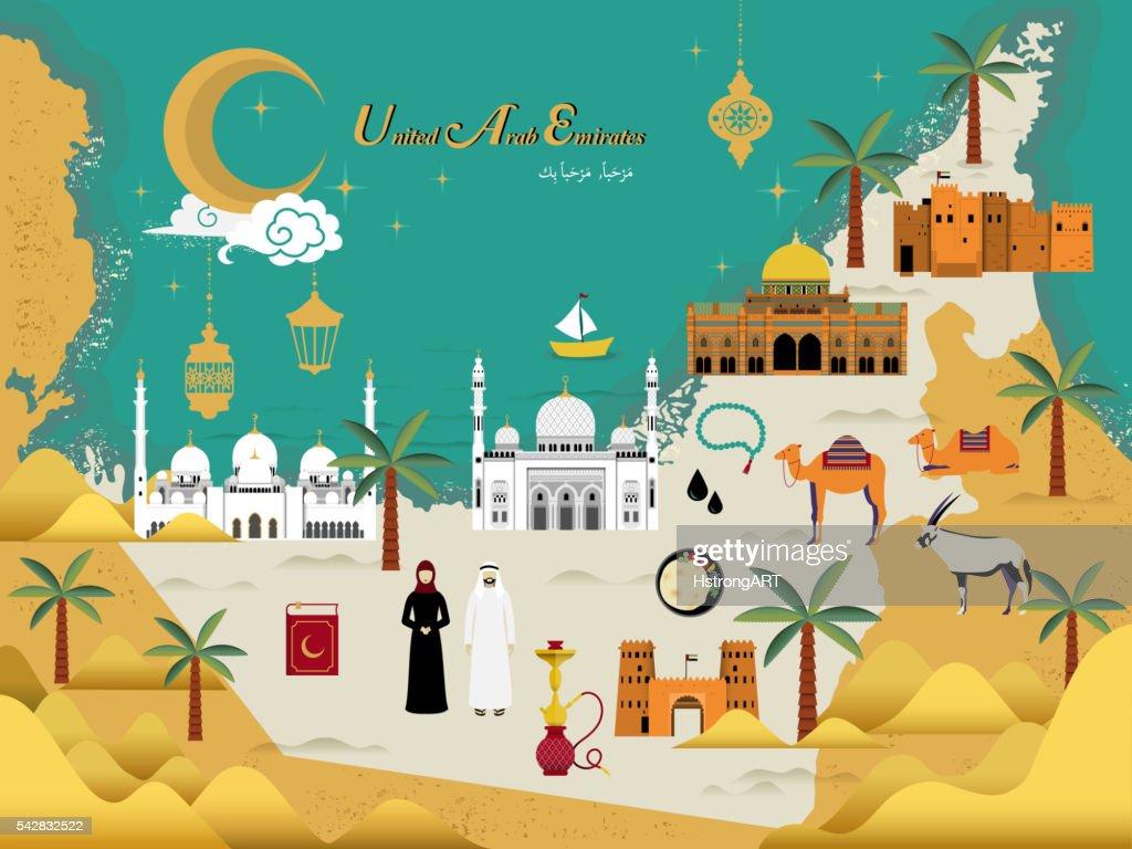 UAE travel concept