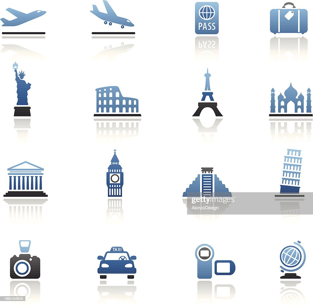 Travel Destinations Icon Set