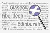 Travel destinations of Scotland Concept