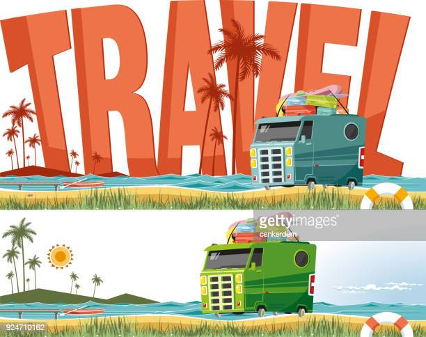 travel destinations - lakeshore stock illustrations