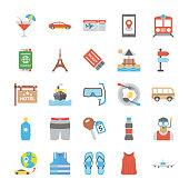 Travel Equipment Icon Set