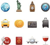 Travel & Famous Landmark Related Icons