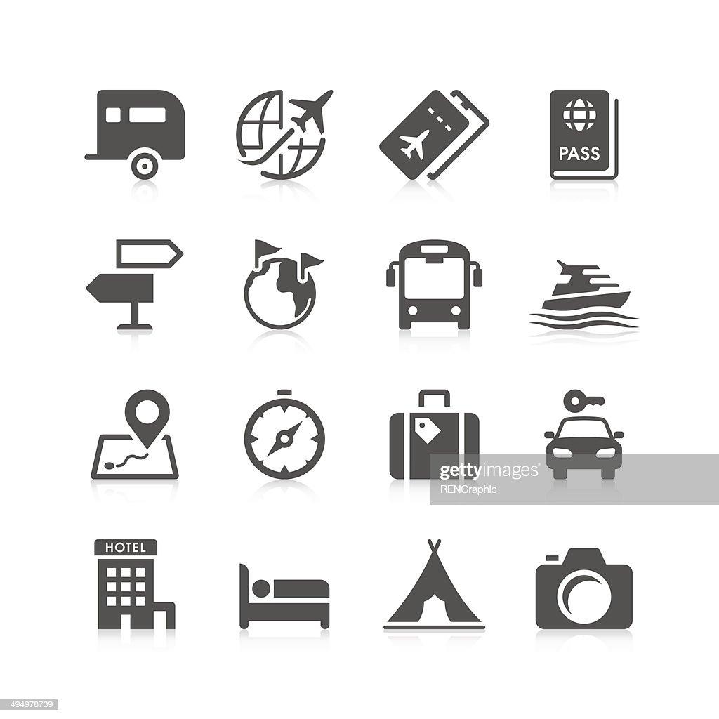 Reisen Sie Symbol Set/einzigartige Series : Stock-Illustration