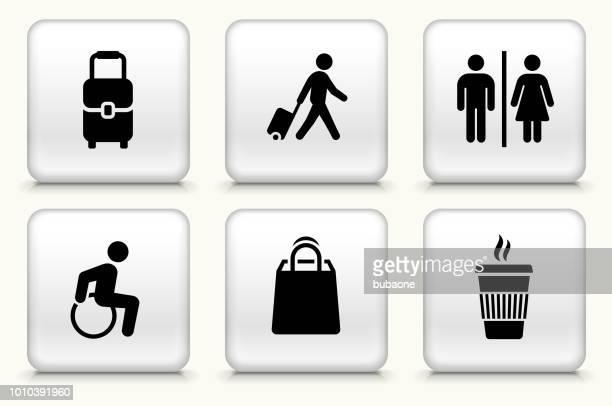 travel icon set - assistive technology stock illustrations, clip art, cartoons, & icons