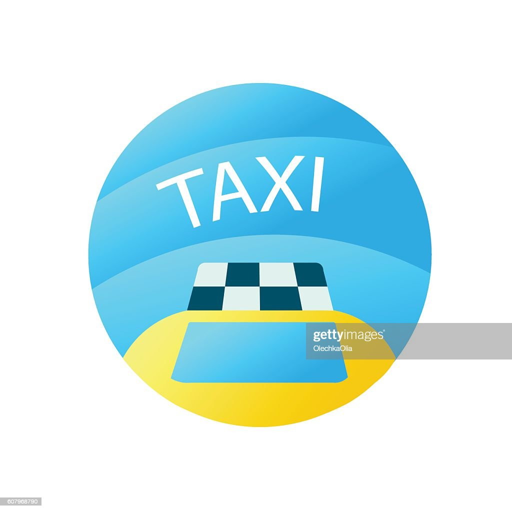 Travel Icon with Taxi Car