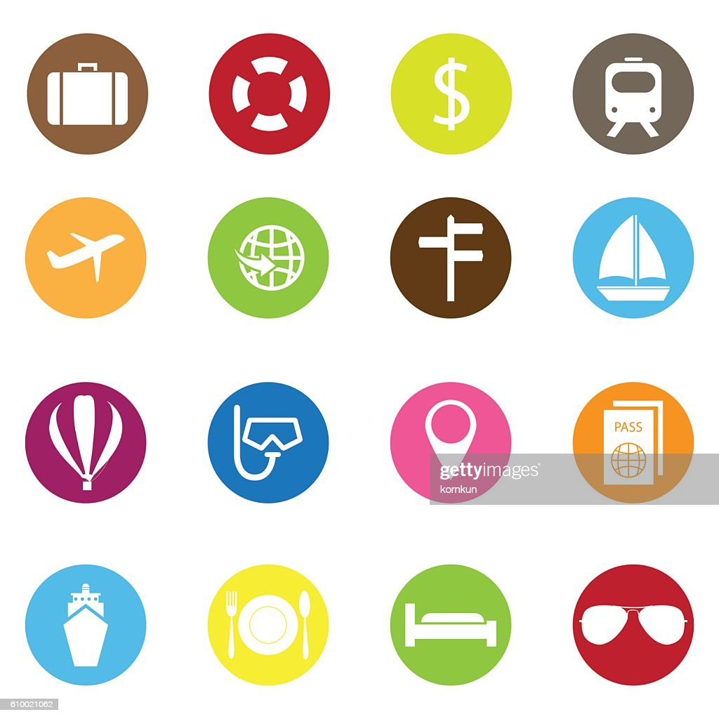 travel icons color