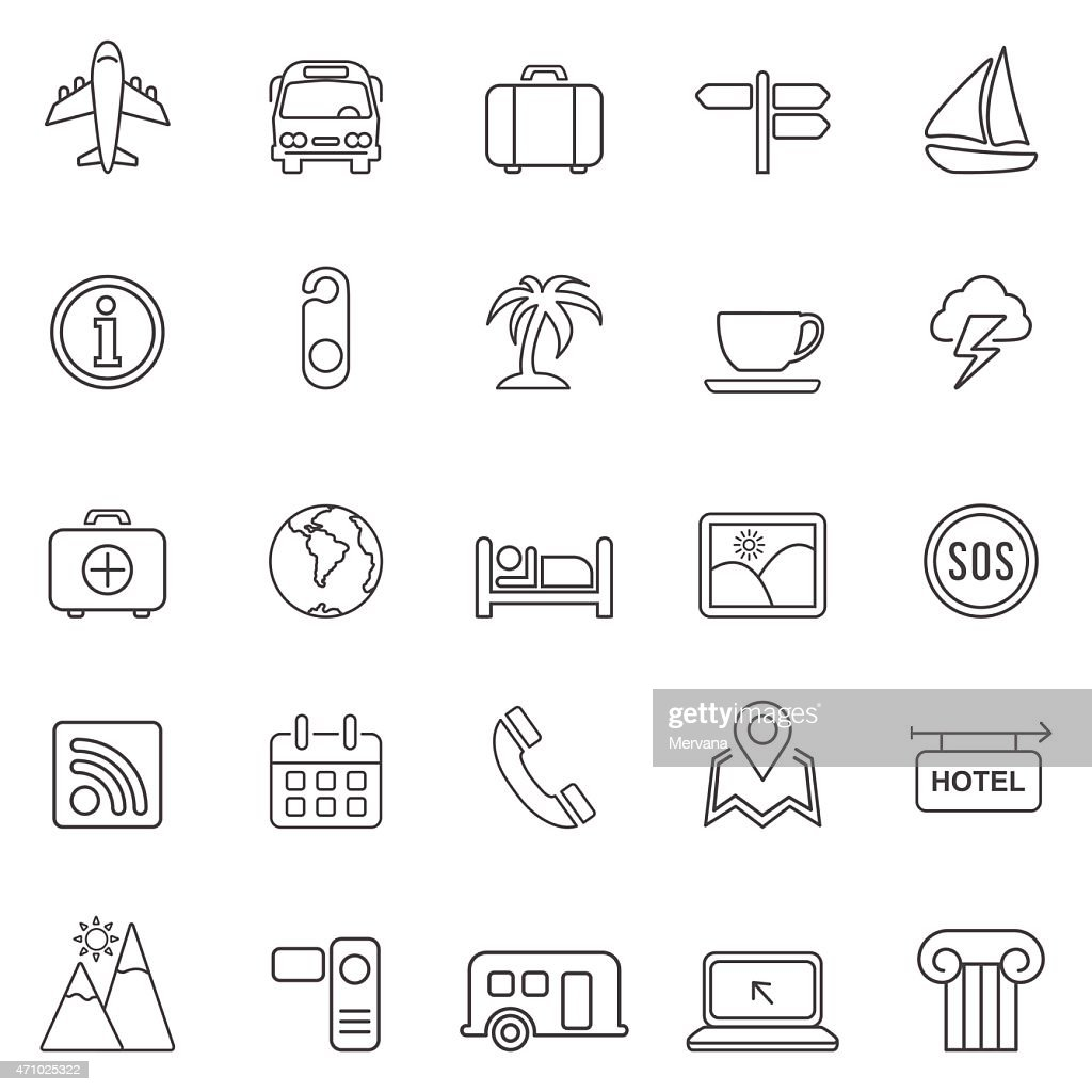 Travel icons set 2.Vector
