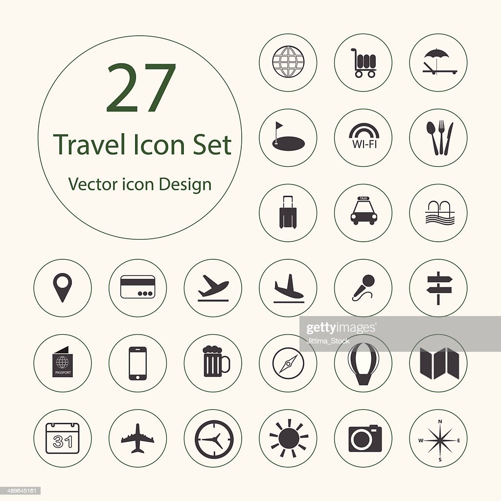 Travel icons set.Vector illustration.