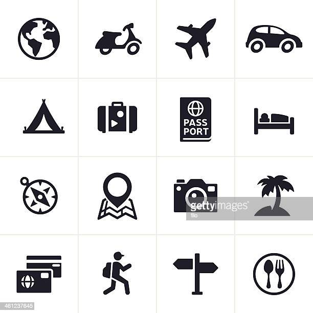 travel icons - tent stock illustrations, clip art, cartoons, & icons
