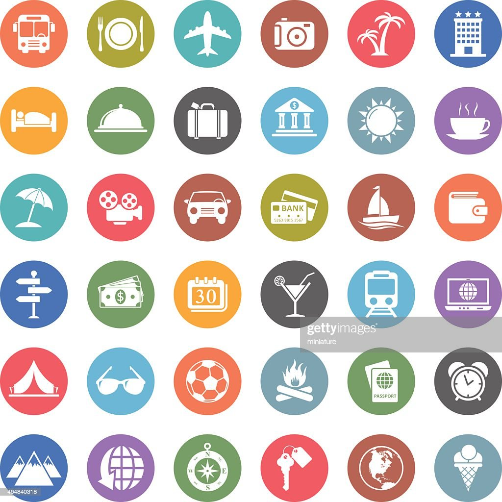 travel icons : Stock Illustration