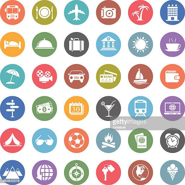 travel icons - recreational pursuit stock illustrations, clip art, cartoons, & icons