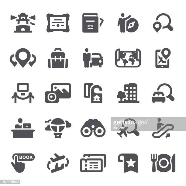 travel icons - hotel reception stock illustrations, clip art, cartoons, & icons