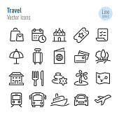 Travel Icons - Vector Line Series