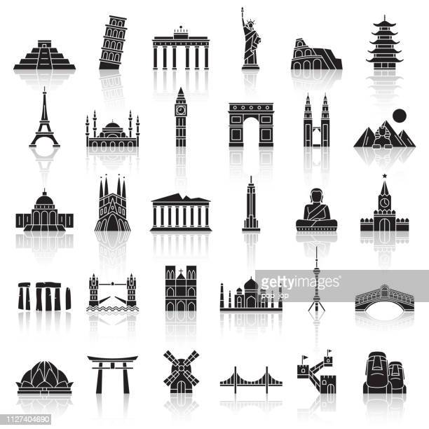 Travel Landmark Icons - Vector