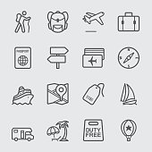 Travel line icon
