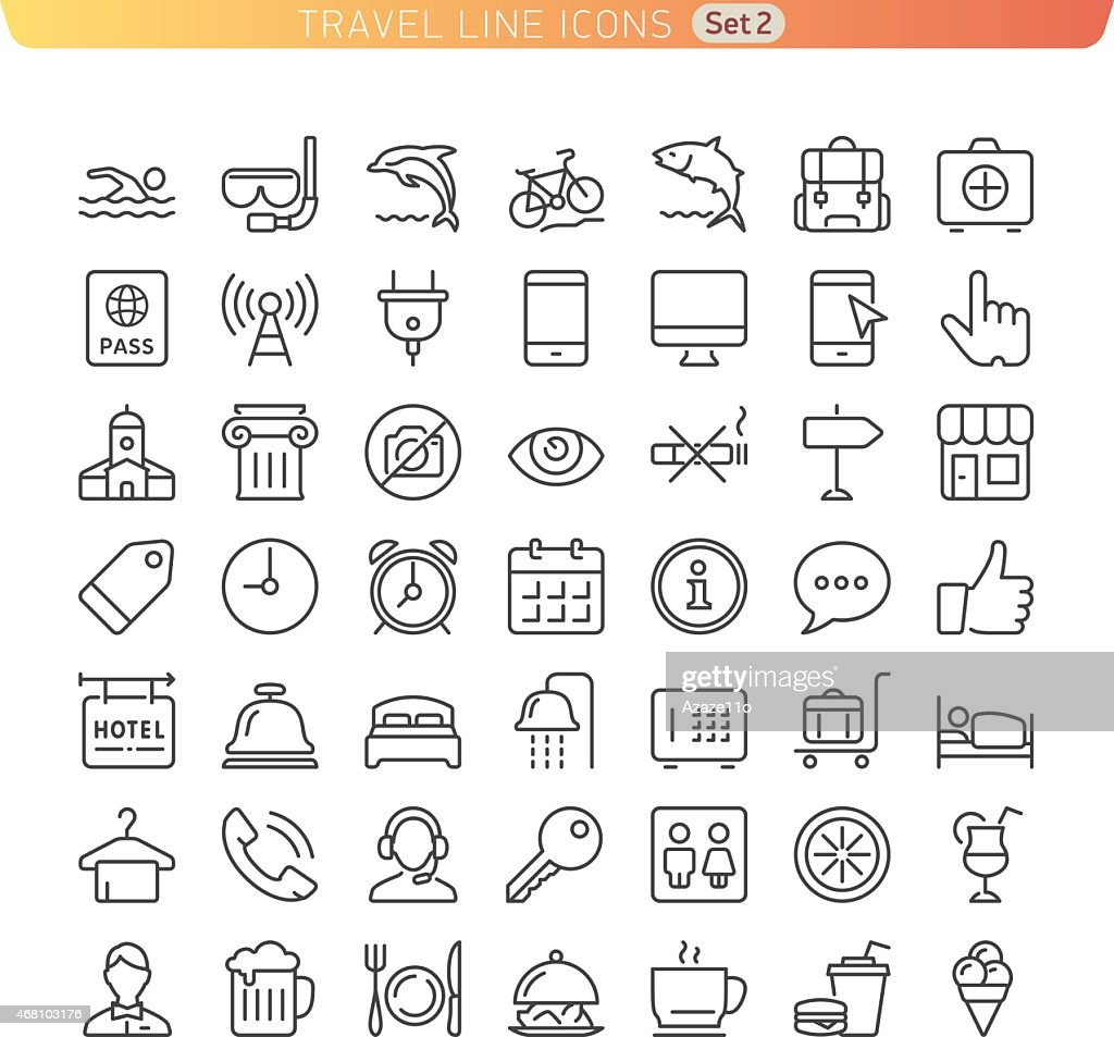Travel Line Icons. Set 2