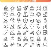 Travel Line Icons. Set 3