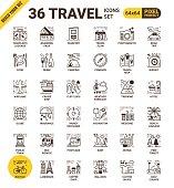 Travel pixel perfect icons