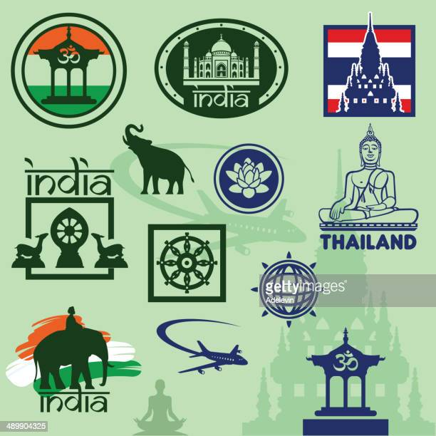 Travel stamps India and Thailand
