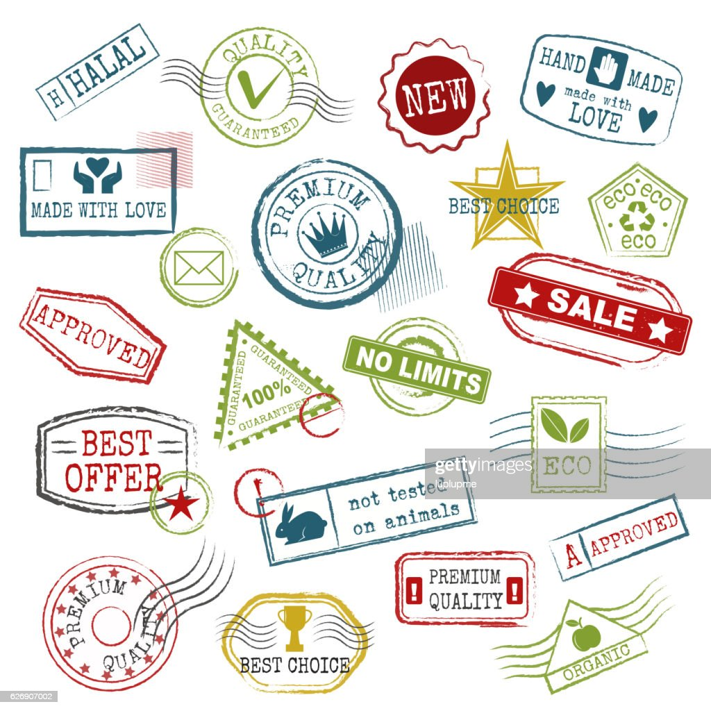 Travel stamps vector.