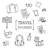 Travel stuff doodles.