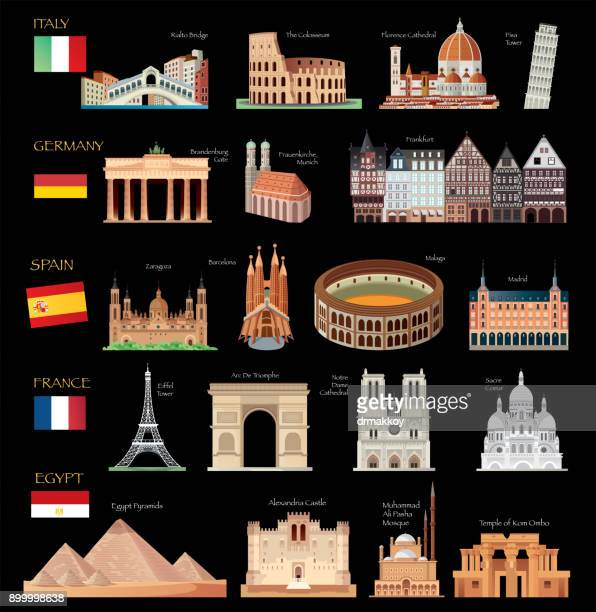 travel symbols - brandenburg gate stock illustrations, clip art, cartoons, & icons