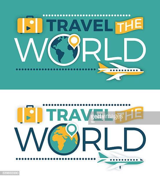 ilustrações, clipart, desenhos animados e ícones de viaje o mundo - viagem
