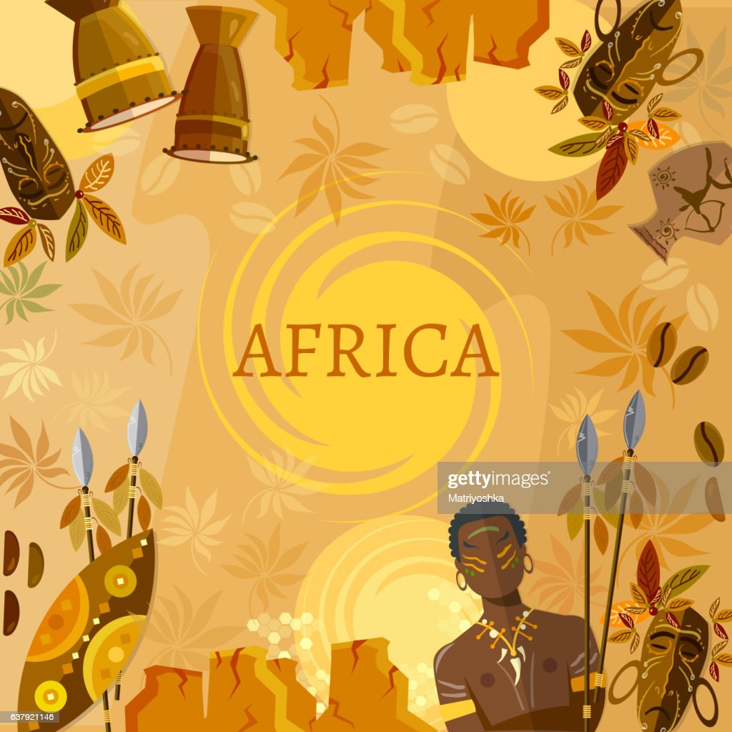 Travel to Africa, people, tribe. African traditions and culture.