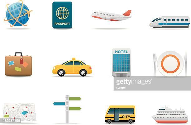 Travel & Tourismus-Symbole/Premium-Matten series