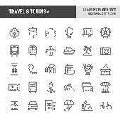 Travel & Tourism Vector Icon Set