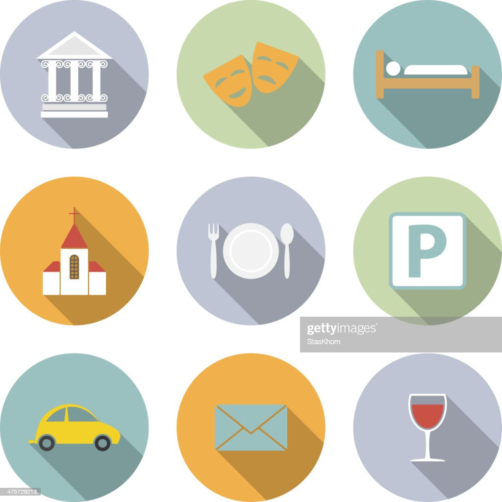 Travel Vector Flat Icons